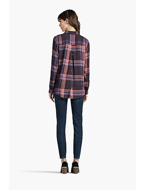 BACK PLACKET PLAID SHIRT,