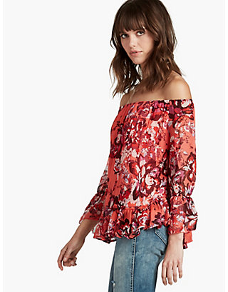 LUCKY OFF THE SHOULDER FLORAL TOP
