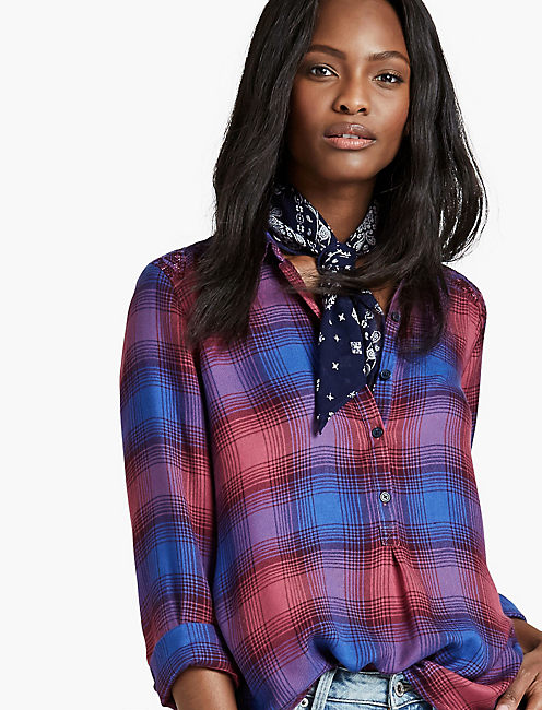 EMBROIDERED PLAID SHIRT,
