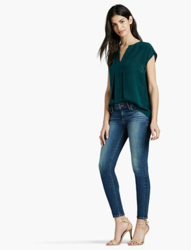 Lucky Silk Short Sleeve Blouse