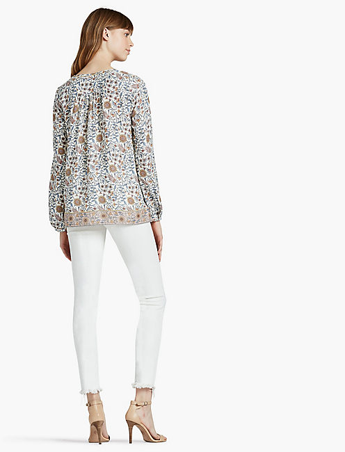 METALLIC BORDER PRINT TOP,