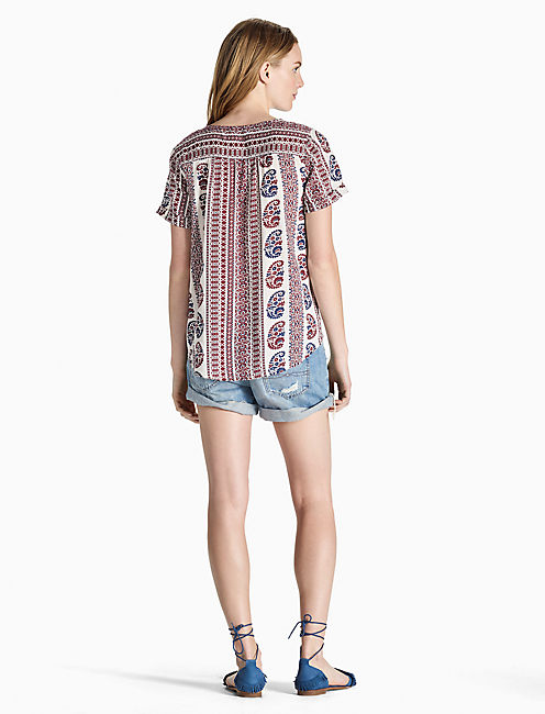 PATRIOTIC PEASANT TOP,