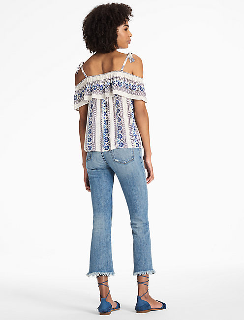 STRIPE FLORAL TOP,