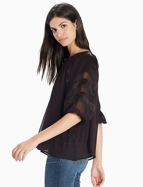 OPEN BACK TOP, 001 LUCKY BLACK