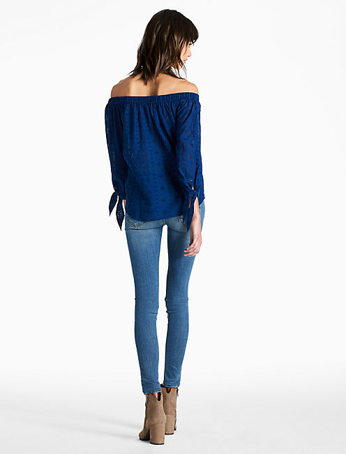 SCHIFFLY OFF SHOULDER TOP,