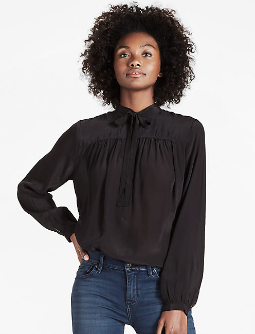 TIE NECK TOP,