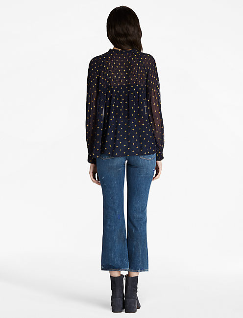 SMOCKED TOP,