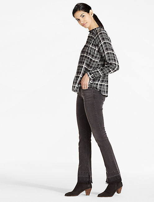 Lucky Plaid High Neck Top