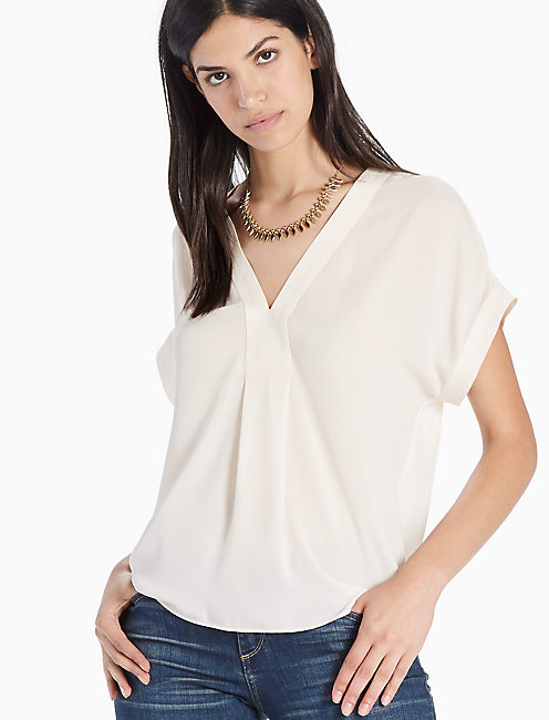 DRAPED SHIRT, EGGSHELL