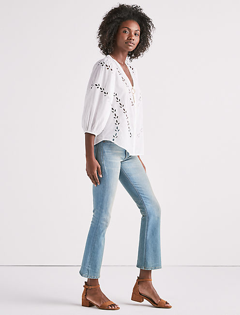 Lucky Eyelet Peasant Blouse