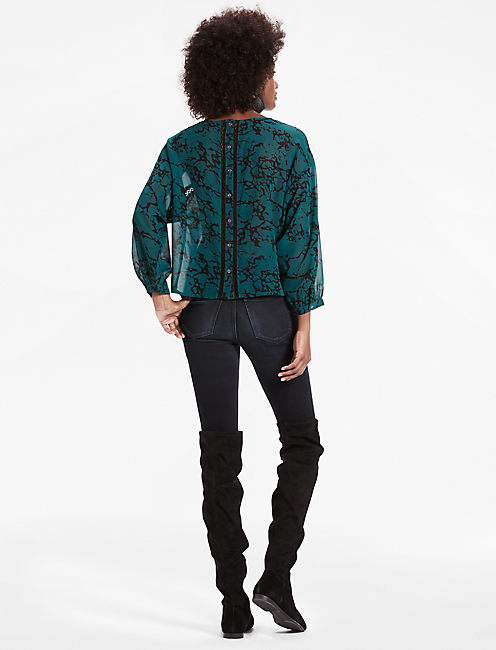 MARBLE PRINTED BLOUSE,