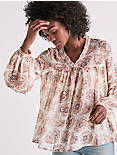 PINK EXPLODED FLORAL TOP,