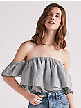 RUFFLE OFF SHOULDER TOP,