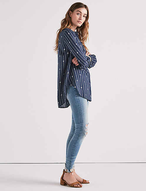 Lucky Stripe Tunic Top