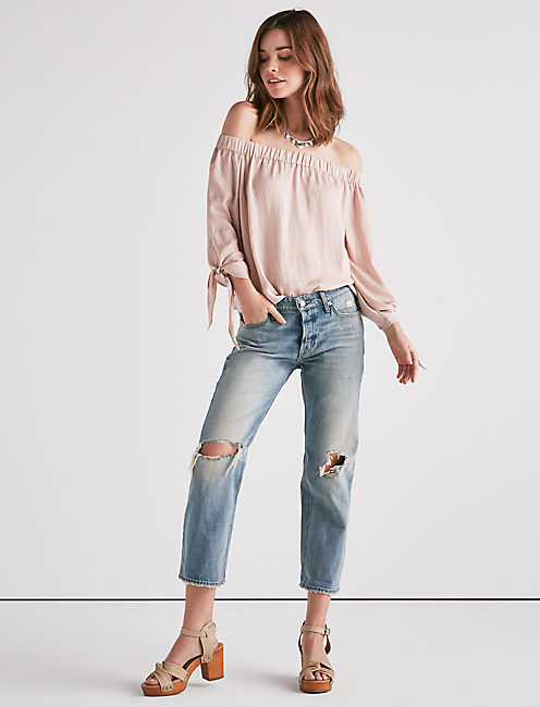 Lucky Parachute Off Shoulder Top