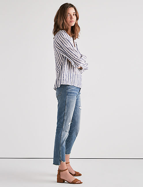 Lucky Stripe Poet Blouse