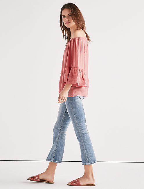 Lucky Bell Sleeve Peasant Top