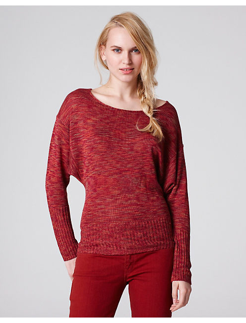 SPARROW SPACE DYE SWEATER, RED MULTI
