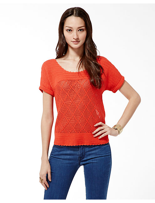 SAMMI CROCHET SWEATER, #8378 GRENADINE