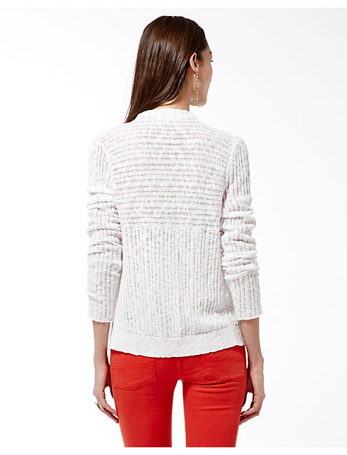 DRAPEY CARDIGAN, LUCKY WHITE