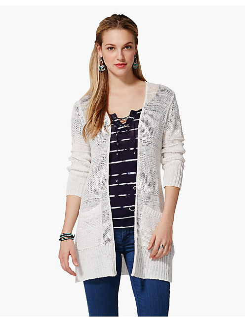 HARPER LINEN SWEATER, LUCKY WHITE