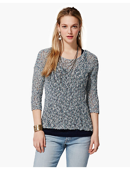 MARCIE PULLOVER SWEATER, BLUE MULTI