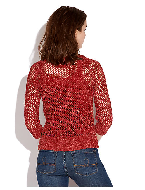 CERISE PULLOVER SWEATER, #6689 VINTAGE RUST RED