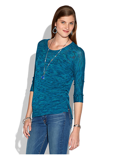 BEL SPACE DYE PULLOVER, BLUE MULTI