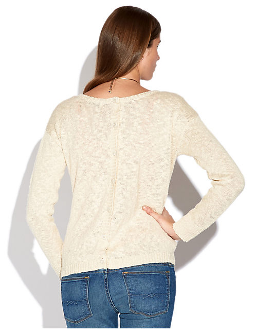BUTTON BACK SWEATER,