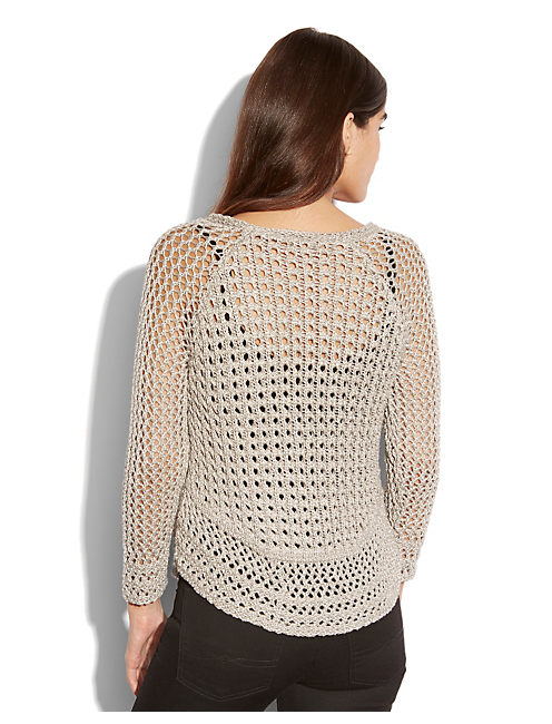 MARISSA METALLIC SWEATER, SILVER