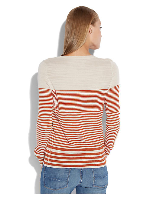 DENVER STRIPED SWEATER, NATURAL MULTI