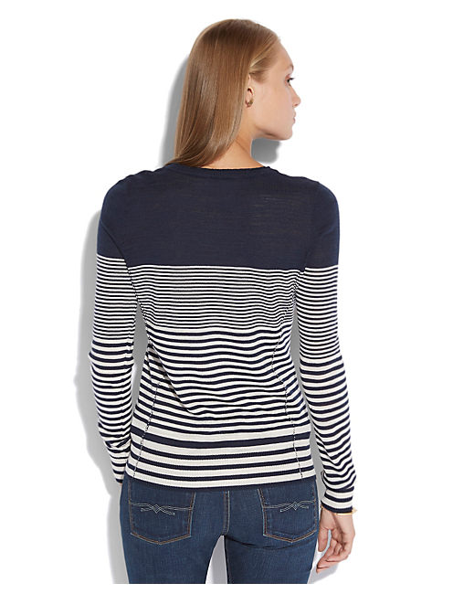 DENVER STRIPED SWEATER, BLUE MULTI