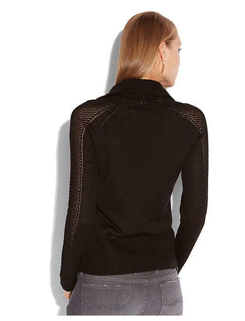 PAULINA POINTELLE SWEATER, 001 LUCKY BLACK