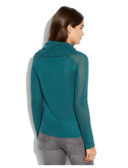 PAULINA POINTELLE SWEATER, #3896 PACIFIC
