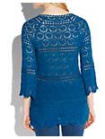 CROCHET SAPPHIRE TUNIC, #40095 BLUE SAPPHIRE