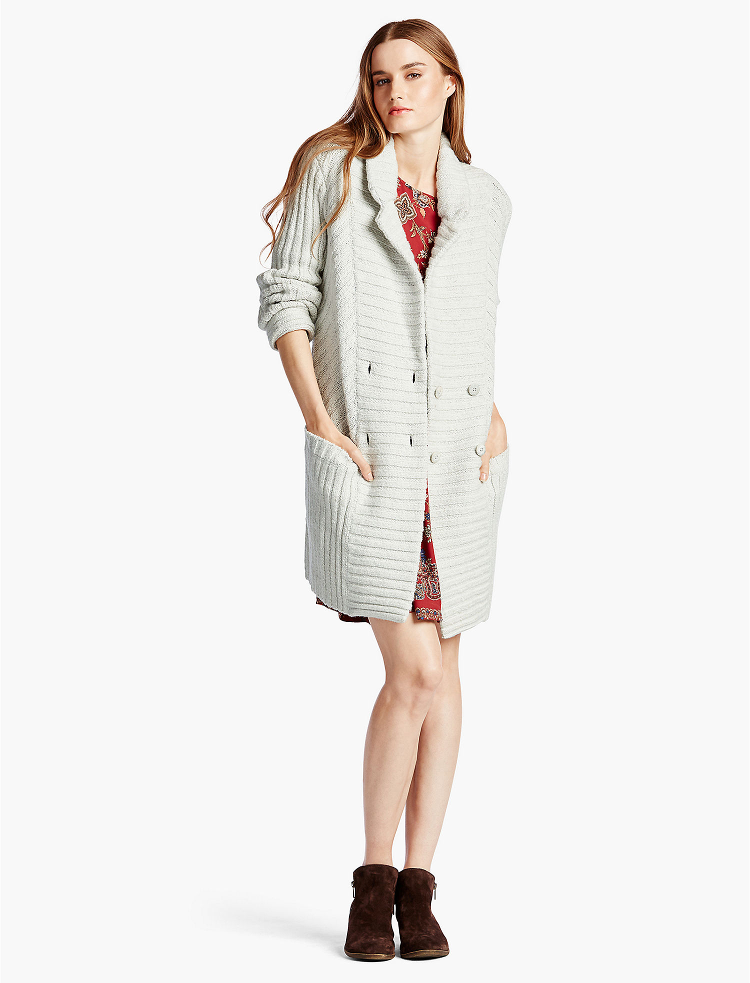 RIBBED SWEATER COAT - Lucky Brand 2.0