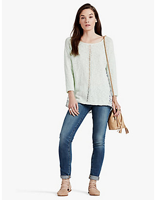 LUCKY WOVEN BACK SWEATER