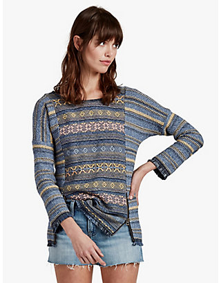 LUCKY ESCAPE FRINGE SWEATER