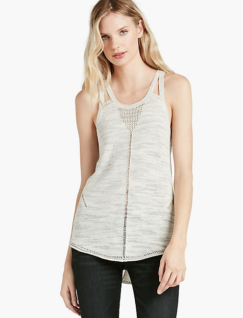 STRAPPY SWEATER TANK,