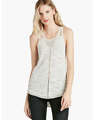 LUCKY STRAPPY SWEATER TANK