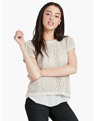 LUCKY MARLED STITCH  PULLOVER
