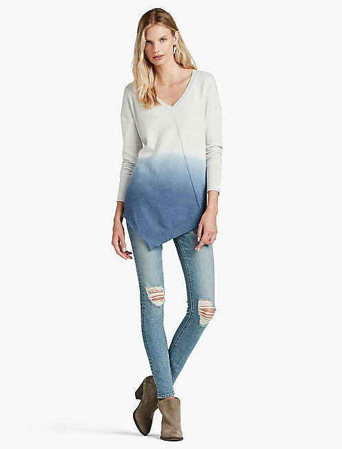 LUCKY DIP -DYE V NECK SWEATER