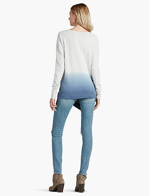 DIP -DYE V NECK SWEATER,
