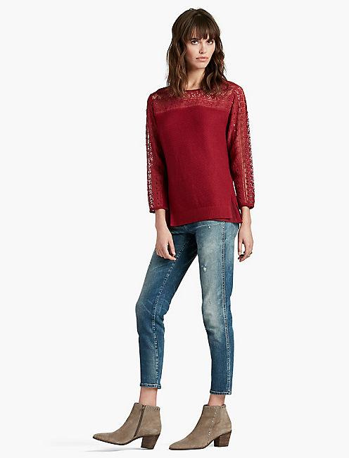 Lucky Lace Yoke Sweater