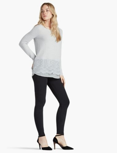 LUCKY LACE MIX SWEATER
