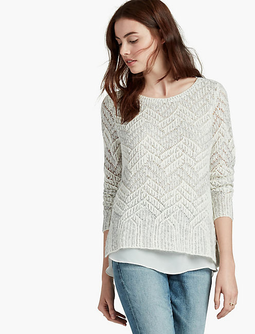 CHEVRON SHINE SWEATER,