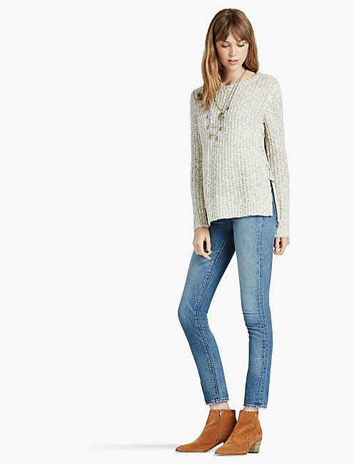 LUCKY OMBRE LACE UP PULLOVER