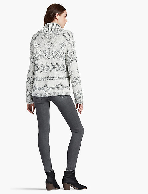 FRINGE TURTLE NECK,