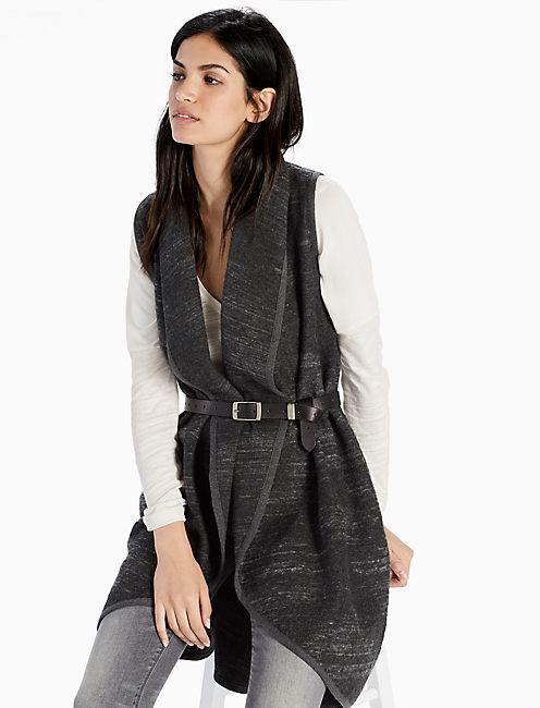 SWEATER VEST, GREY MULTI