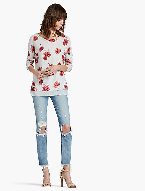 Lucky Open Floral Pullover